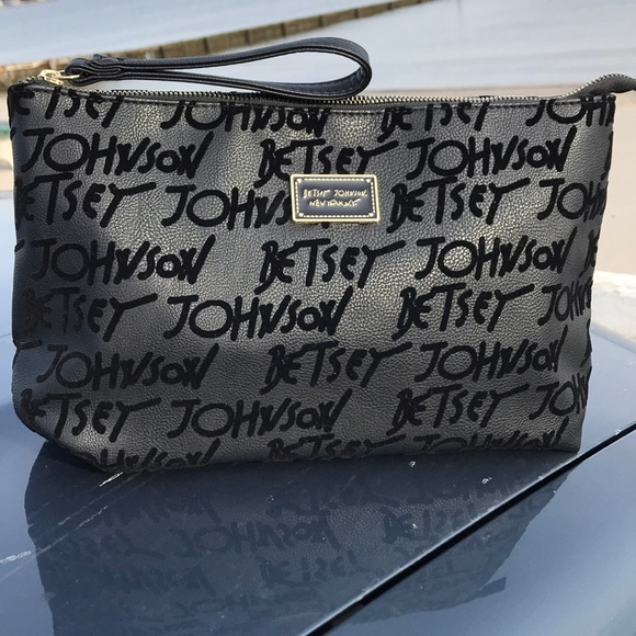 Betsey Johnson Handbags - Betsy Johnson Accessory Bag, Black